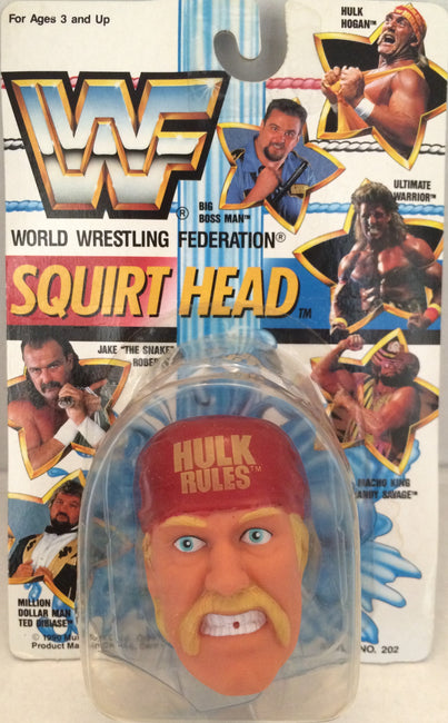 (TAS012310) - 1990 WWF TitanSports Wrestling Squirt Head - Hulk Hogan, , Squirt Head, Titan Sports, Inc., The Angry Spider Vintage Toys & Collectibles Store  - 1