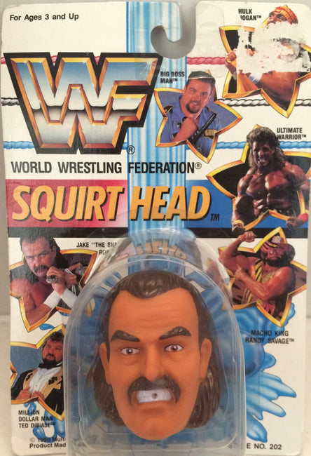 "(TAS012357) - 1990 WWF TitanSports Wrestling Squirt Head - Jake ""The Snake"", , Squirt Head, Titan Sports, Inc., The Angry Spider Vintage Toys & Collectibles Store  - 1"