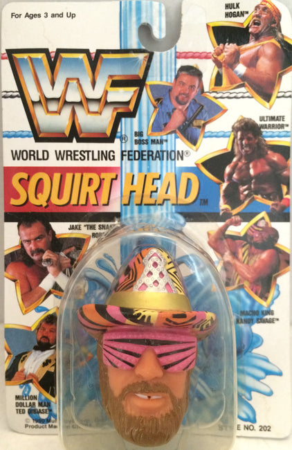 (TAS012368) - 1990 WWF TitanSports Wrestling Squirt Head - Randy Savage, , Squirt Head, Titan Sports, Inc., The Angry Spider Vintage Toys & Collectibles Store  - 1
