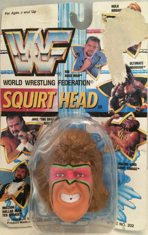 (TAS012370) - 1990 WWF TitanSports Wrestling Squirt Head - Ultimate Warrior, , Squirt Head, Titan Sports, Inc., The Angry Spider Vintage Toys & Collectibles Store  - 1