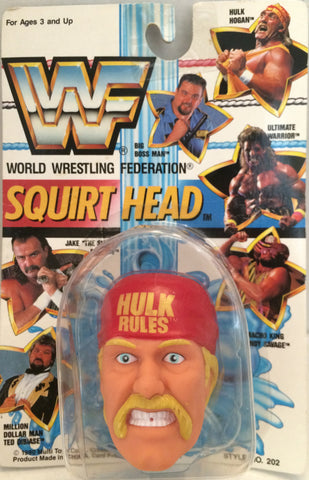 (TAS012373) - 1990 WWF TitanSports Wrestling Squirt Head - Hulk Hogan, , Squirt Head, Titan Sports, Inc., The Angry Spider Vintage Toys & Collectibles Store  - 1