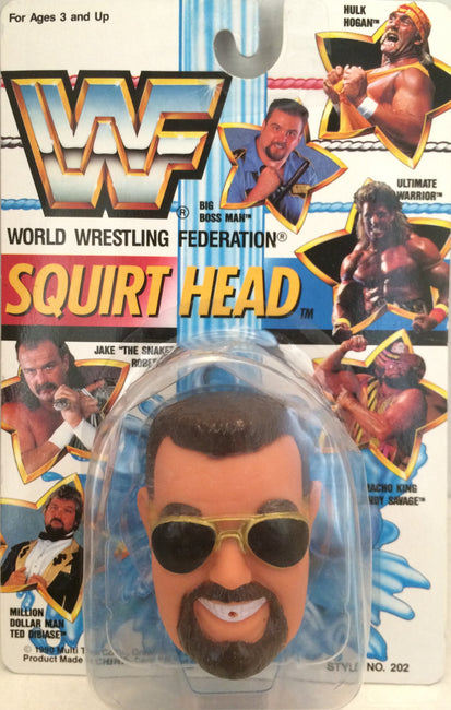 (TAS012387) - 1990 WWF TitanSports Wrestling Squirt Head - Big Boss Man, , Squirt Head, Titan Sports, Inc., The Angry Spider Vintage Toys & Collectibles Store  - 1