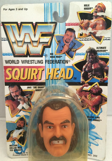 "(TAS012454) - 1990 WWF TitanSports Wrestling Squirt Head - Jake ""The Snake"", , Squirt Head, Titan Sports, Inc., The Angry Spider Vintage Toys & Collectibles Store  - 1"