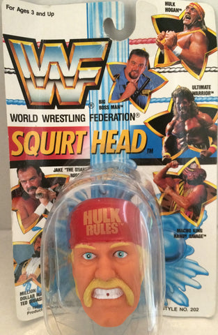 (TAS012513) - 1990 WWF TitanSports Wrestling Squirt Head - Hulk Hogan, , Squirt Head, Titan Sports, Inc., The Angry Spider Vintage Toys & Collectibles Store  - 1