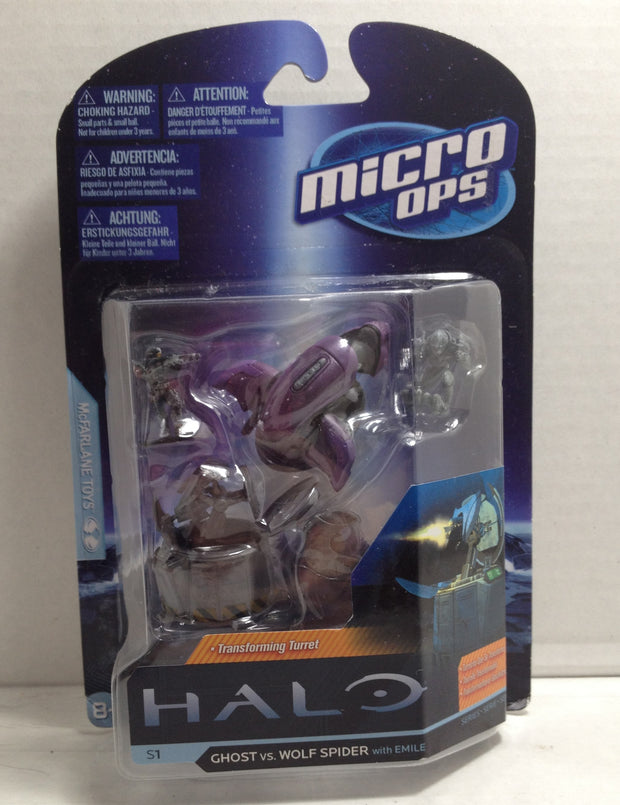 Halo Micro Ops Series 1 Wolf Spider McFarlane toys Ghost vs