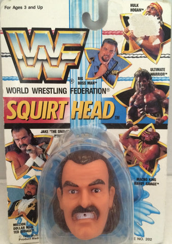 "(TAS012607) - 1990 WWF TitanSports Wrestling Squirt Head - Jake ""The Snake"", , Squirt Head, Titan Sports, Inc., The Angry Spider Vintage Toys & Collectibles Store  - 1"