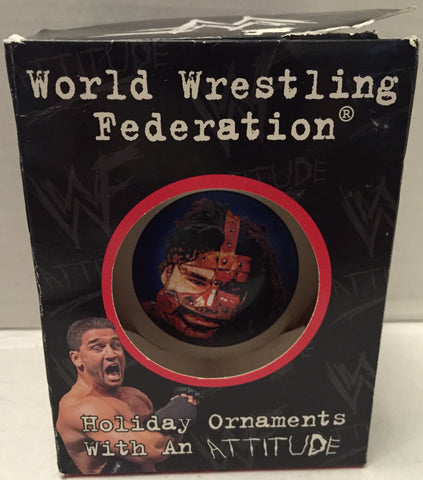(TAS012684) - WWF WWE Wrestling Holiday Christmas Ornament - ManKind, , Ornament, Wrestling, The Angry Spider Vintage Toys & Collectibles Store  - 1