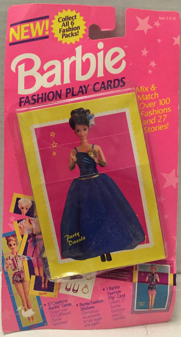 (TAS012694) - 1993 The River Group Barbie Fashion Play Cards - Party Dazzle, , Game, Barbie, The Angry Spider Vintage Toys & Collectibles Store  - 1