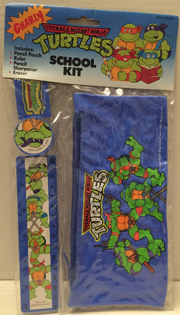 (TAS012851) - 1991 Mirage Studios Teenage Mutant Ninja Turtles School Kit, , Study Kit, TMNT, The Angry Spider Vintage Toys & Collectibles Store  - 1