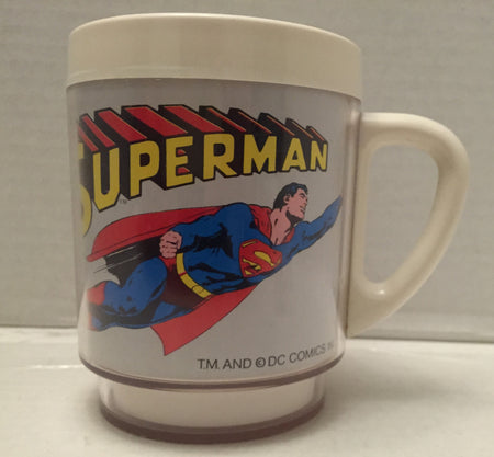 (TAS012871) - 1978 DC Comics Superman Plastic Drinking Cup - Christopher Reeve, , Drinkware, DC Comics, The Angry Spider Vintage Toys & Collectibles Store  - 1