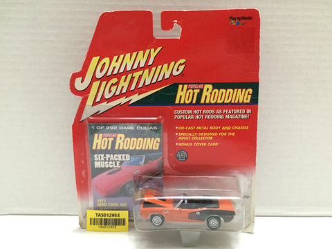 (TAS012953) - Johnny Lightning Popular Hot Rodding 1971 Hemi Cuda 440, , Trucks & Cars, Johnny Lightning, The Angry Spider Vintage Toys & Collectibles Store  - 1