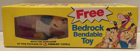 (TAS012969) - Post Pebbles Cereal Flintstones Bedrock Bendable Toy - Barney, , Action Figure, The Flintstones, The Angry Spider Vintage Toys & Collectibles Store  - 1