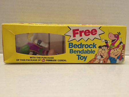 (TAS012971) - Post Pebbles Cereal Flintstones Bedrock Bendable Toy - Dino, , Toy, The Flintstones, The Angry Spider Vintage Toys & Collectibles Store  - 1