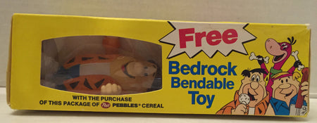 (TAS012978) - Post Pebbles Cereal Flintstones Bedrock Bendable Toy - Fred, , Toy, The Flintstones, The Angry Spider Vintage Toys & Collectibles Store  - 1