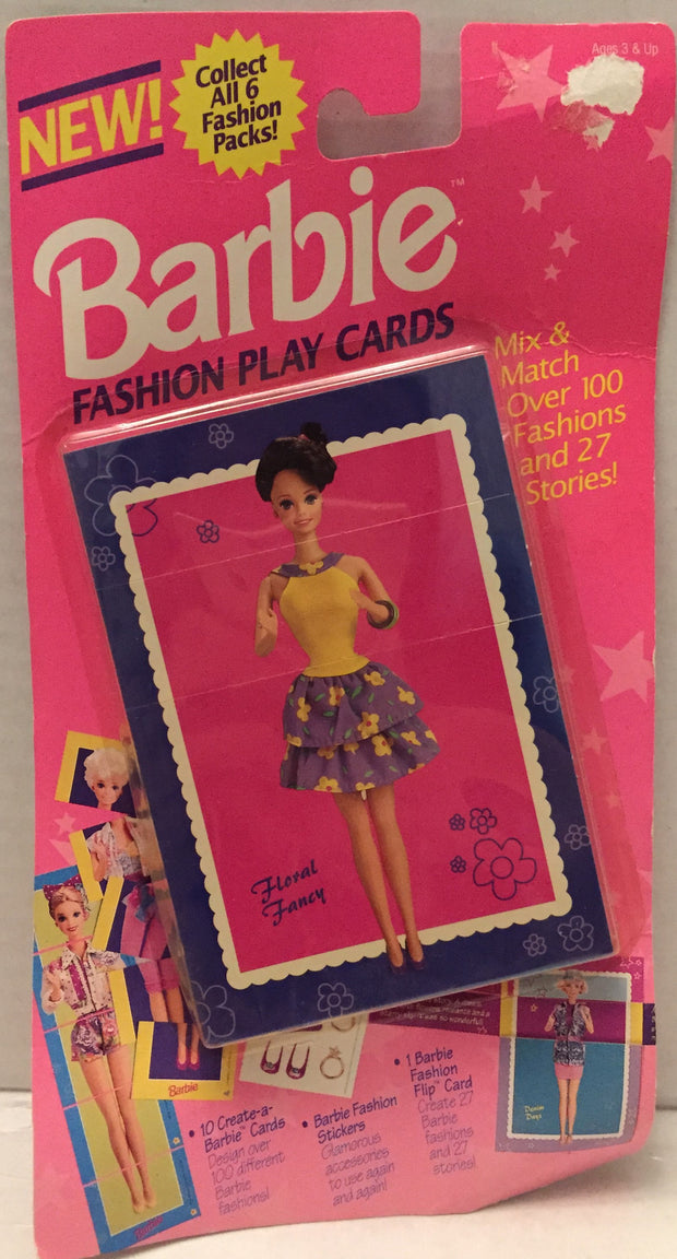 (TAS013063) - 1993 The River Group Barbie Fashion Play Cards - Floral Fancy, , Game, Barbie, The Angry Spider Vintage Toys & Collectibles Store  - 1