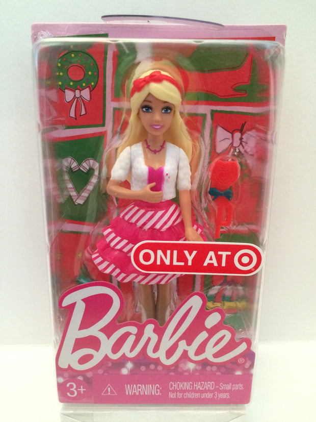 TAS013191 Happy Holidays Barbie Target Exclusive Mini Doll Dolls Mattel