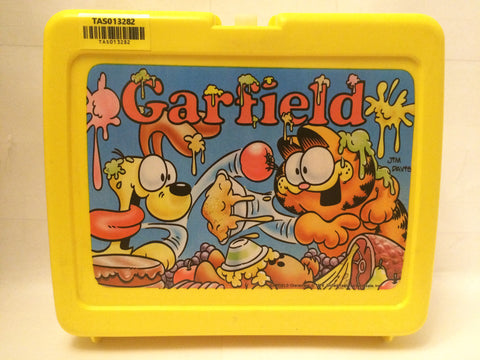 (TAS013282) - 1978 Garfield Characters (Jim Davis) Plastic Yellow Lunchbox, , Lunch Box, Garfield, The Angry Spider Vintage Toys & Collectibles Store  - 1
