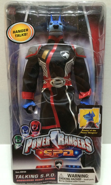 (TAS032109) - 2004 Bandai Power Rangers S.P.D Talking Commander Doggy Cruger, , Action Figure, Bandai, The Angry Spider Vintage Toys & Collectibles Store  - 1