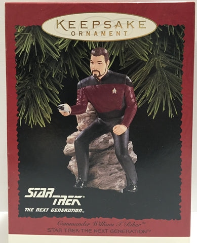 (TAS013321) - 1996 Hallmark Star Trek The Next Generation Ornament - Cmdr Riker, , Ornament, Hallmark, The Angry Spider Vintage Toys & Collectibles Store  - 1