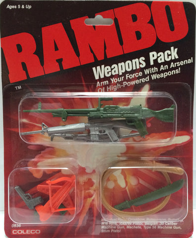 (TAS013396) - Coleco Rambo Weapons Pack, , Weapons Pack, Coleco, The Angry Spider Vintage Toys & Collectibles Store  - 1