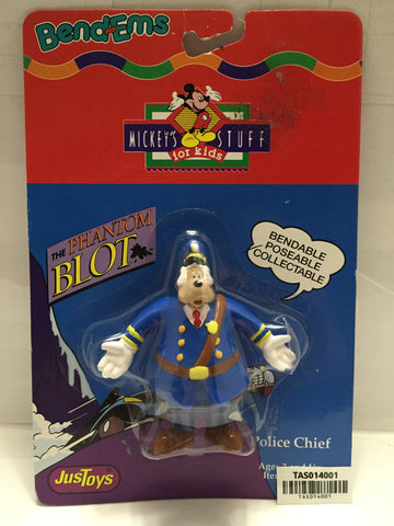 (TAS014001) - JusToys The Phantom Blot Police Chief Bend-Ems, , Action Figure, Just Toys, The Angry Spider Vintage Toys & Collectibles Store  - 1