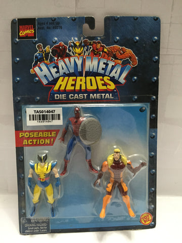 (TAS014047) - 1999 Marvel Comics Heavy Metal Heroes Die Cast Metal 3-pk, , Dolls, The Simpsons, The Angry Spider Vintage Toys & Collectibles Store  - 1