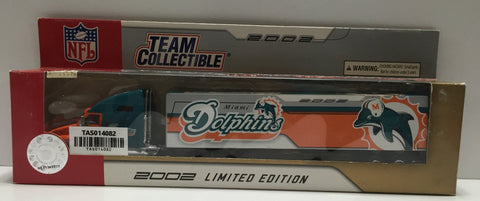 "(TAS014082) - NFL 2002 Team Collectible ""Miami Dolphins"" Tractor-Trailer (13th i, , Trucks & Cars, NFL, The Angry Spider Vintage Toys & Collectibles Store  - 1"