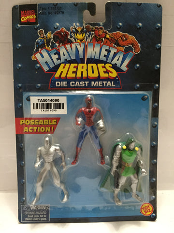 (TAS014090) - 1999 Marvel Comics Heavy Metal Heroes Die Cast Metal 3-pk, , Action Figure, Marvel Toys, The Angry Spider Vintage Toys & Collectibles Store  - 1