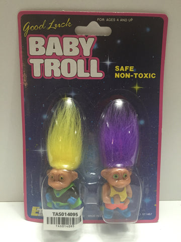 (TAS014095) - Good Luck Baby Troll two-pack, , Action Figure, Unknown, The Angry Spider Vintage Toys & Collectibles Store  - 1