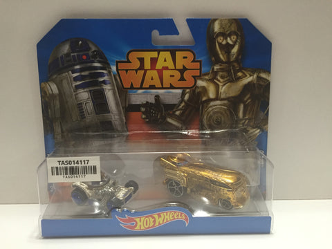 (TAS014117) - 2014 Hot Wheels Star Wars C-3PO Drag Bus & R2-D2 Hot Rod, , Action Figure, Unknown, The Angry Spider Vintage Toys & Collectibles Store  - 1