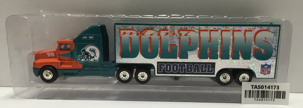 "(TAS014173) - NFL Tractor-Trailor ""Miami Dolphins"", , Trucks & Cars, NFL, The Angry Spider Vintage Toys & Collectibles Store  - 1"