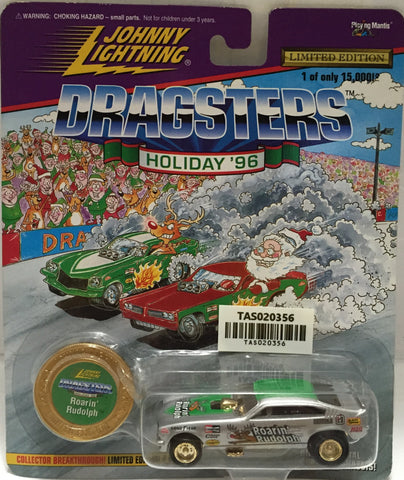 (TAS020356) - 1996 Johnny Lightning Dragsters Holiday  Car - Roarin' Rudolph, , Trucks & Cars, Johnny Lightning, The Angry Spider Vintage Toys & Collectibles Store  - 1