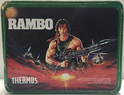 (TAS020425) - 1985 Anabasis - Rambo Lunchbox - No Thermos, , Lunch Box, Rambo, The Angry Spider Vintage Toys & Collectibles Store  - 1