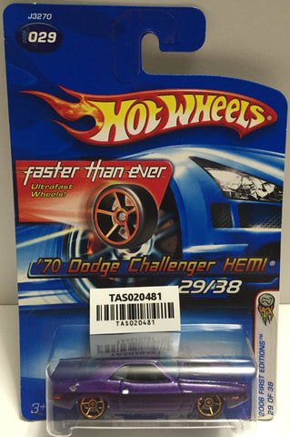 TAS025640 - Mattel Hot Wheels Die-Cast - 2006 '70 Dodge Challenger HEMI