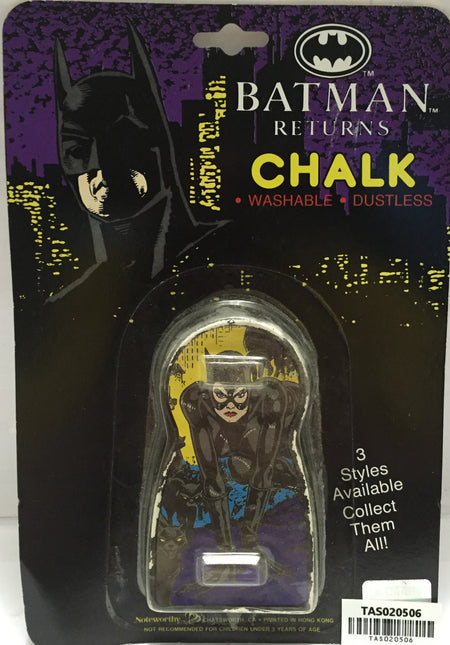 (TAS020506) - 1991 DC Comics Batman Returns Chalk - Catwoman, , crayons, Hasbro, The Angry Spider Vintage Toys & Collectibles Store  - 1