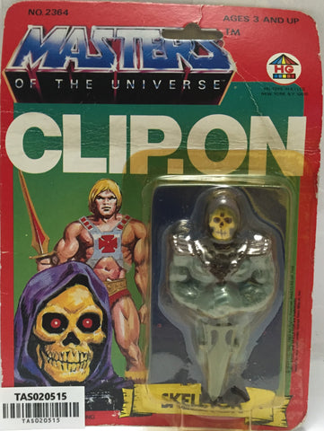 (TAS020515) -1983 HG Toys Masters of the Universe Clip On - Skeletor, , Clip-On, MOTU, The Angry Spider Vintage Toys & Collectibles Store  - 1
