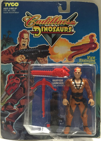 (TAS020532) - 1993 Tyco Cadillacs And Dinosaurs - Vice Terhune Evil Poacher, , Action Figure, Tyco, The Angry Spider Vintage Toys & Collectibles Store  - 1