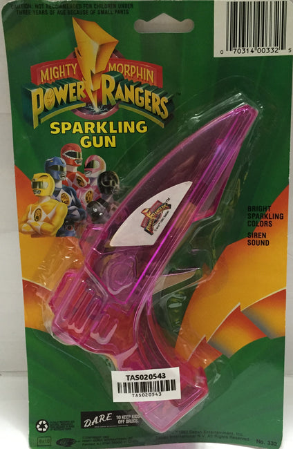 (TAS020543) - 1993 Saban Mighty Morphin Power Rangers Purple Sparkling Gun, , Other, Power Rangers, The Angry Spider Vintage Toys & Collectibles Store  - 1