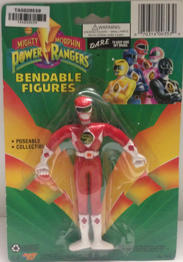 (TAS020559) - Mighty Morphin Power Rangers - Red Bendable Figure Jason, , Action Figure, Power Rangers, The Angry Spider Vintage Toys & Collectibles Store  - 1