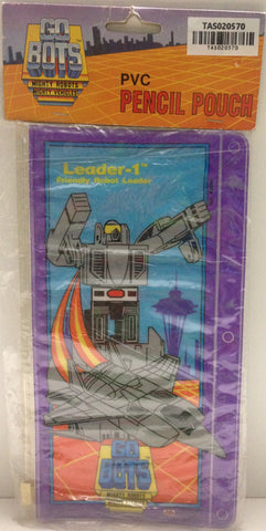 (TAS020570) - GoBots Mighty Robots PVC Pencil Pouch - Leader-1 Friendly Robot, , Pencils, n/a, The Angry Spider Vintage Toys & Collectibles Store  - 1