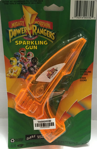 (TAS020580) - 1993 Saban Mighty Morphin Power Rangers Orange Sparkling Gun, , Sparkling Gun, Power Rangers, The Angry Spider Vintage Toys & Collectibles Store  - 1