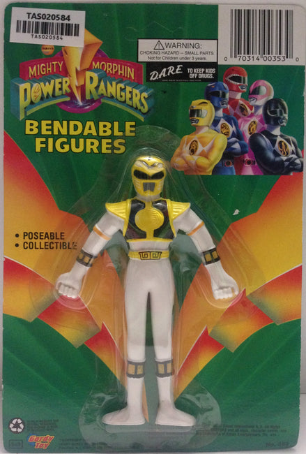 (TAS020584) - Mighty Morphin Power Rangers - Yellow Bendable Figure Trini, , Action Figure, Power Rangers, The Angry Spider Vintage Toys & Collectibles Store  - 1