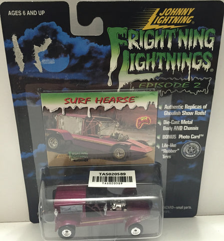 (TAS020589) - 1999 Johnny Lightning Fright'ning Lightnings Die-Cast Surf Hearse, , Trucks & Cars, Johnny Lightning, The Angry Spider Vintage Toys & Collectibles Store  - 1