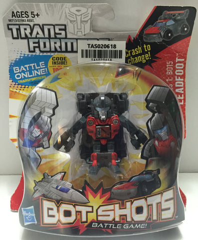 (TAS020618) - 2011 Hasbro Transformers Bot Shots Battle Game - Leadfoot, , Game, Transformers, The Angry Spider Vintage Toys & Collectibles Store  - 1