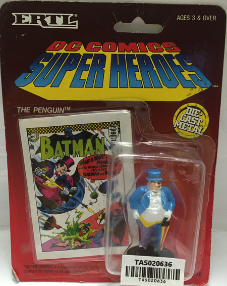 (TAS020636) - 1990 ERTL DC Comics Superheroes DieCast  Batman - The Penguin, , Action Figure, Ertl, The Angry Spider Vintage Toys & Collectibles Store  - 1