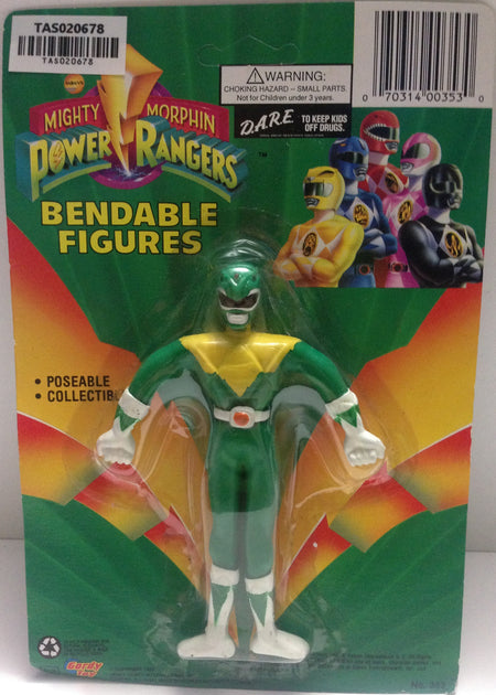(TAS020678) - Mighty Morphin Power Rangers - Green Bendable Figure Tommy, , Action Figure, Power Rangers, The Angry Spider Vintage Toys & Collectibles Store  - 1