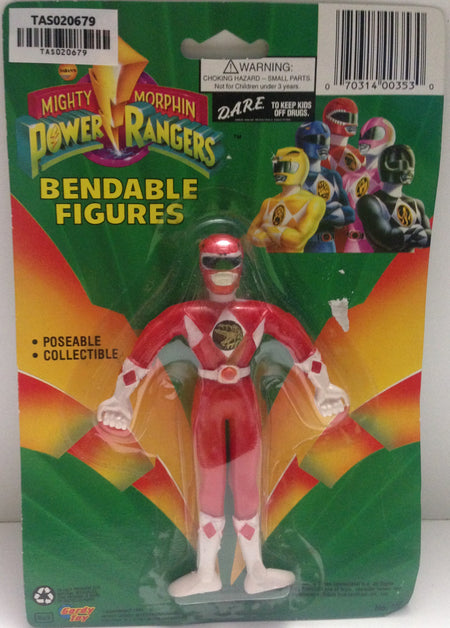 (TAS020679) - Mighty Morphin Power Rangers - Red Bendable Figure Jason, , Action Figure, Power Rangers, The Angry Spider Vintage Toys & Collectibles Store  - 1