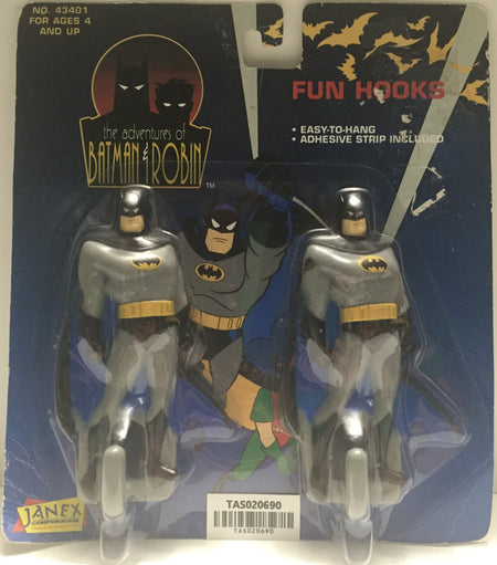(TAS020690) - 1995 Janex - The Adventures of Batman & Robin - Fun Hooks, , Fun Hooks, Janex, The Angry Spider Vintage Toys & Collectibles Store  - 1