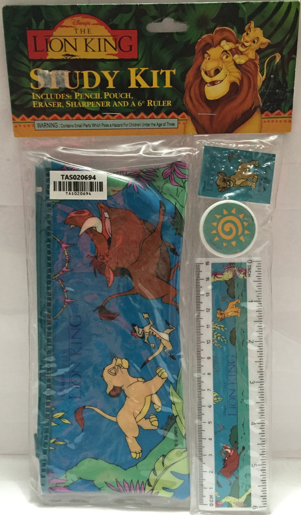 (TAS020694) - Disney The Lion King Study Kit (Pencil Pouch, Eraser, Ruler) - The Angry Spider Vintage Toys & Collectibles Store  - 2