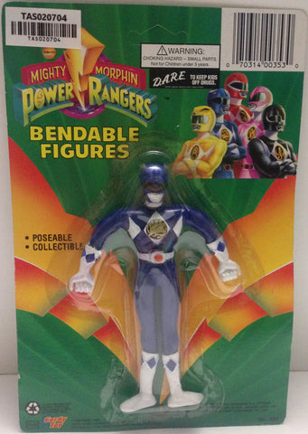 (TAS020704) - Mighty Morphin Power Rangers - Blue Bendable Figure Billy, , Action Figure, Power Rangers, The Angry Spider Vintage Toys & Collectibles Store  - 1